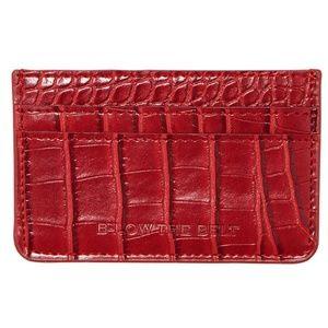 🌵4/$20 NWT Below the Belt Red Crocodile Card Case